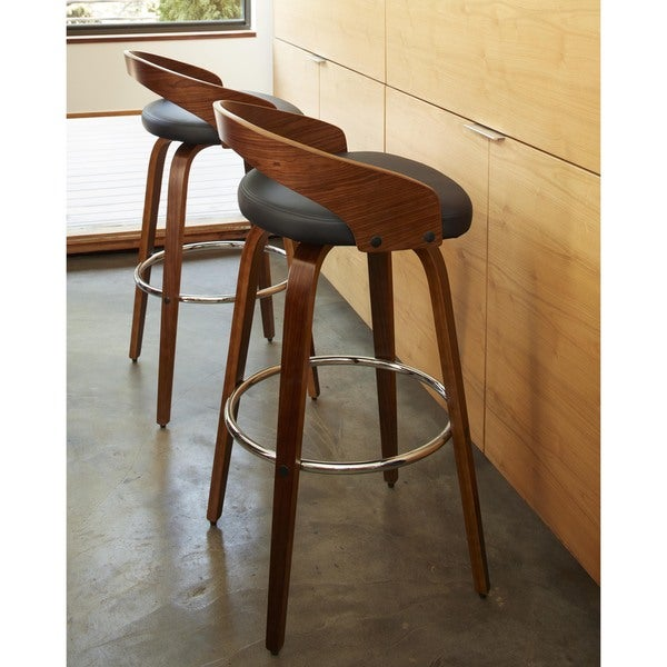grotto midcentury modern wood barstool free shipping today