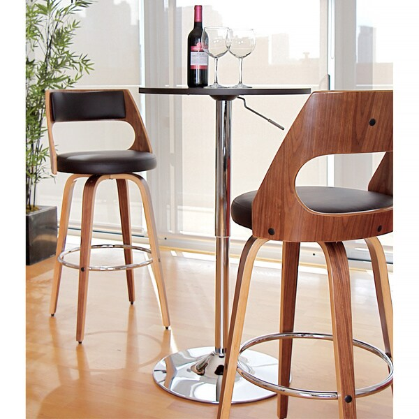 Cecina Mid Century Modern Wood Barstool Free Shipping