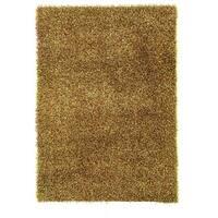 Linon Confetti Grass Green/ Brown Area Rug (1'10 x 2'4) - 1'10 x 2'4