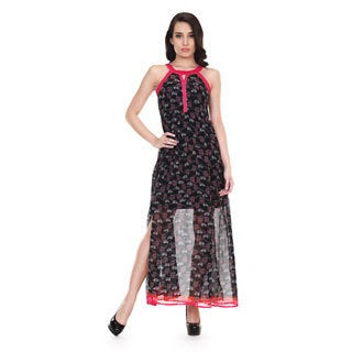 Global Desi Women's Boho Printed Sleeveless Maxi Dress (India)