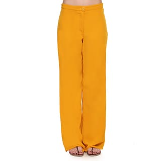 Global Desi Women's Boho Solid Color Pants (India)