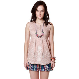 Handmade Global Desi Women's Boho Diamond Print Sleeveless Top (India)