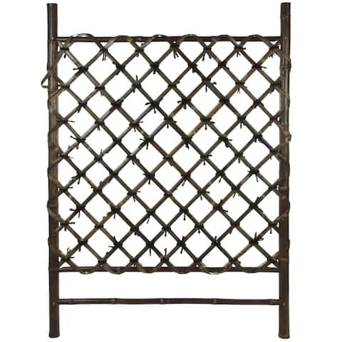 Handmade Buddhist Temple Bamboo Fence Door