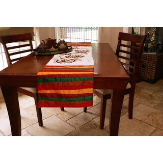Handmade Embroidered Paisley Table Runner (India)