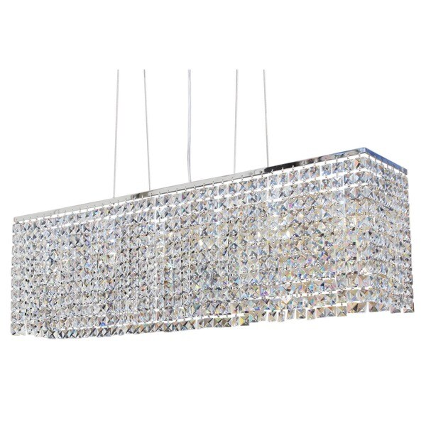 Modern chrome 40 inch crystal chandelier free shipping today modern chrome 40 inch crystal chandelier aloadofball Choice Image