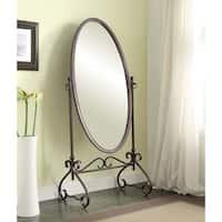 Linon Angelica 26 x 63-inch Oval Cheval Mirror
