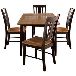Black/ Cherry 5-piece Dining Set