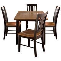 Black/ Cherry 5-piece Dining Set