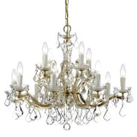 Crystorama Maria Theresa 12-light Crystal Chandelier in Gold