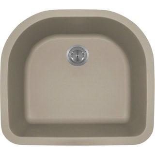 Polaris Sinks Slate Astragranite D-Bowl Kitchen Sink