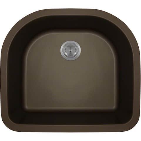 Polaris Sinks Mocha Astragranite D-Bowl Kitchen Sink