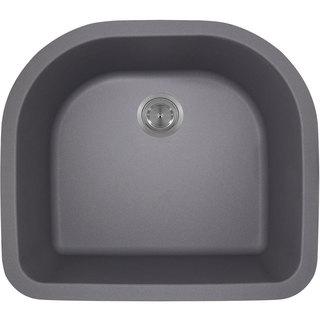 Polaris Sinks P428S Silver Astragranite D-Bowl Kitchen Sink