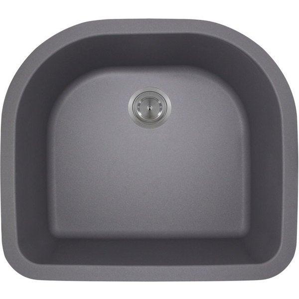Polaris Sinks P428S Silver Astragranite D-Bowl Kitchen Sink. Opens flyout.