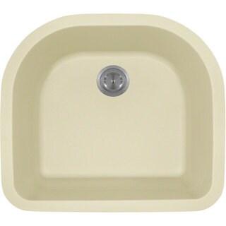Polaris Sinks P428BE Beige Astragranite D-Bowl Kitchen Sink