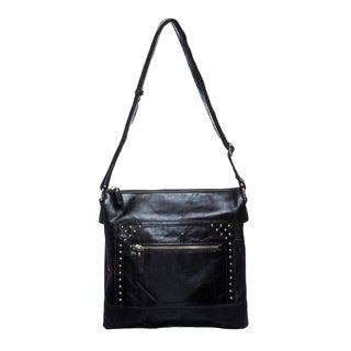 Amerileather 'Simply' Vintage Leather Messenger Bag