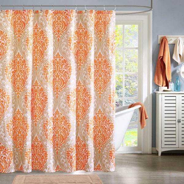 Intelligent Design Sabrina Printed Shower Curtain