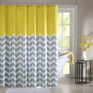 teal and yellow shower curtain. Intelligent Design Elle Printed Shower Curtain Yellow Curtains For Less  Overstock com Vibrant Fabric