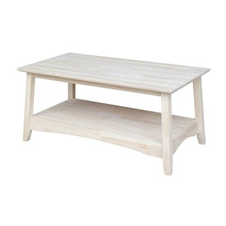 Bombay Unfinished Solid Parawood Tall Coffee Table