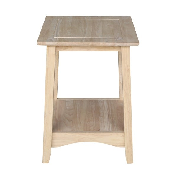 Unfinished Solid Parawood Tall Lift-top Coffee Table Brown Transitional Rectangle Rubberwood Wood Finish Lift Top