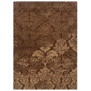 Linon Florence Brown/ Beige Area Rug (5' x 7')