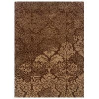 Linon Florence Brown/ Beige Area Rug (5' x 7') - 5' x 7'