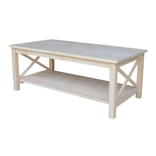 Unfinished Solid Parawood Hampton Coffee Table