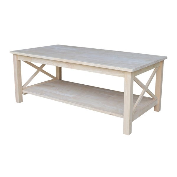 Shop Unfinished Solid Parawood Hampton Coffee Table