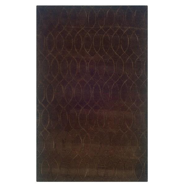 Linon Ashton Chocolate Area Rug (5' x 8') - 5' x 8'