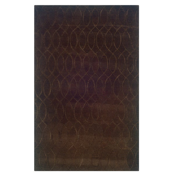 Linon Ashton Chocolate Area Rug (8' x 11') - 8' x 11'