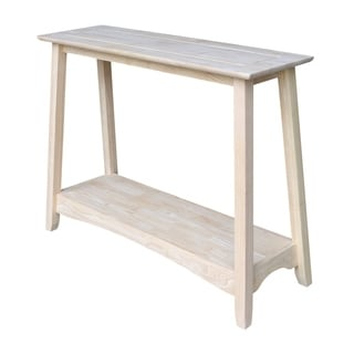 Bombay Unfinished Solid Parawood Console Table