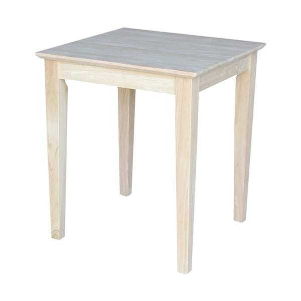 Unfinished Solid Parawood Shaker Tall End Table