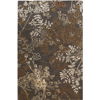 Linon Ashton Charcoal/ Gold Area Rug (5' x 8')