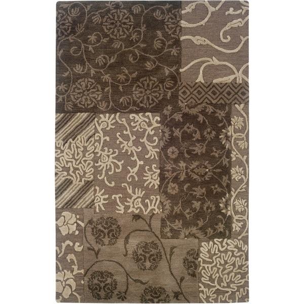 Linon Ashton Brown/ Cream Area Rug (5' x 8')