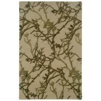 Linon Ashton Beige/ Olive Area Rug (8' x 11') - 8' x 11'