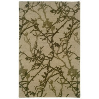 Linon Ashton Beige/ Olive Area Rug (5' x 8')