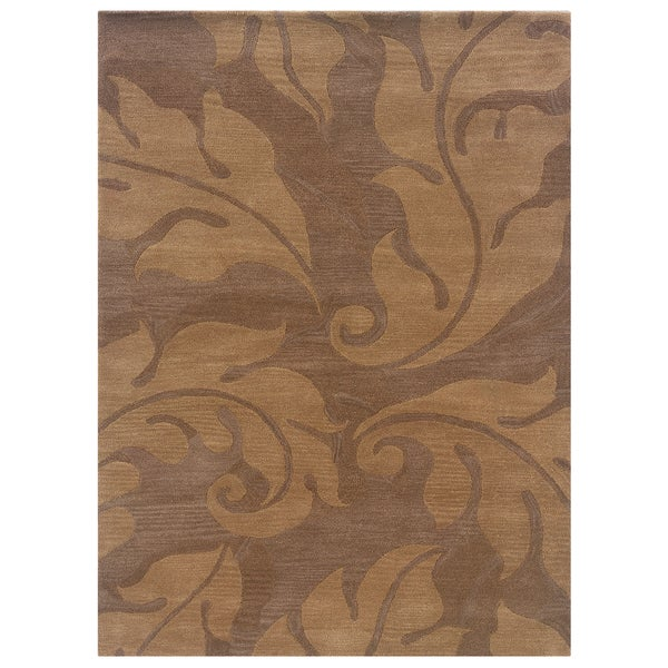 Linon Florence Beige/ Gold Area Rug (5' x 7')