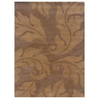 Linon Florence Beige/ Gold Area Rug (5' x 7') - 5' x 7'