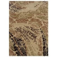 Linon Florence Beige/ Brown Area Rug (5' x 7')