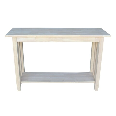 The Gray Barn Moonshine Unfinished Mission Console Table