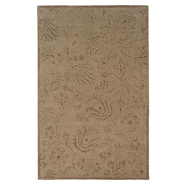 Linon Ashton Gold/ Olive Area Rug (5' x 8')