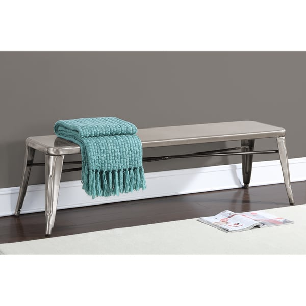 Shop Tabouret Gunmetal 60 Inch Indoor Bench Free Shipping Today