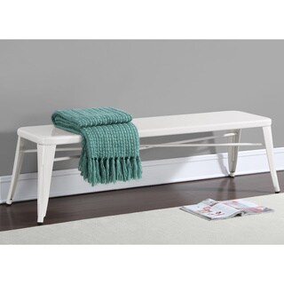 Shop White 60 Inch Indoor Bench Free Shipping Today