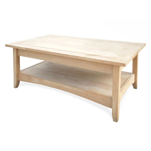 Unfinished Solid Parawood Bombay Tall Lift Top Coffee Table