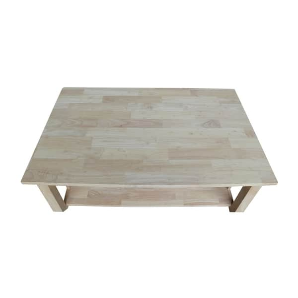 Shop Unfinished Solid Parawood Mission Tall Lift Top Coffee Table