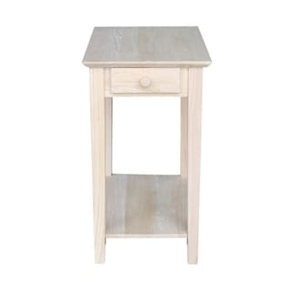 Unfinished Solid Parawood Narrow End Table
