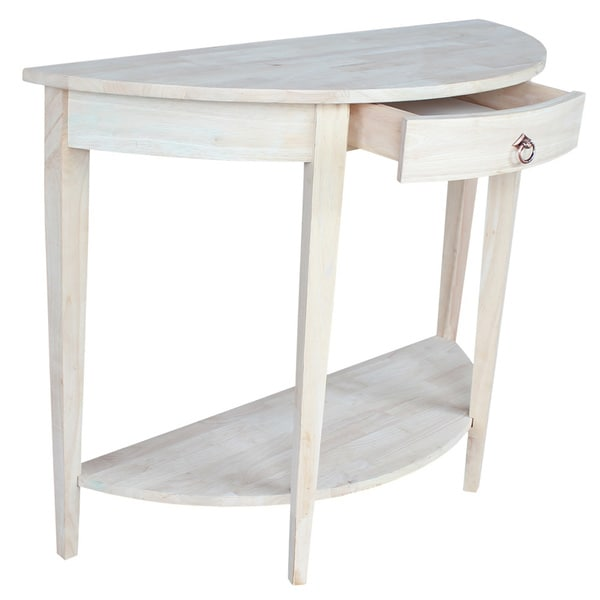 Half Moon Unfinished Modern Console Table Free Shipping Today