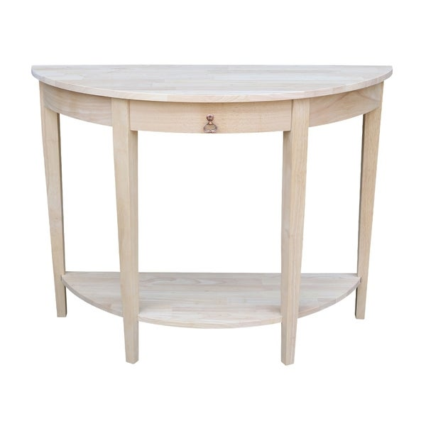 Half Moon Unfinished Modern Console Table