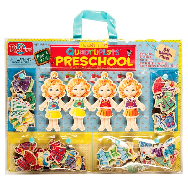 Teeny Tiny Quadruplets Preschool Magnet Dress-Up Dolls