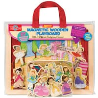 Princess, Ballet and Fairies Magnetic Wooden Playboard
