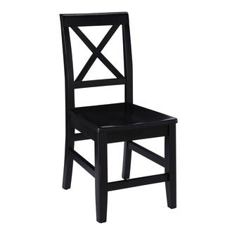 Linon Elsa Dining Chair, Ebony with Rub Thru